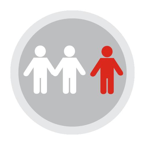 social isolation icon