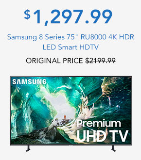 Samsung 8 Series 75 RU8000 4K HDR LED Smart HDTV