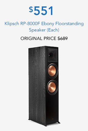 Klipsch RP-8000F Ebony Floorstanding Speaker (Each)
