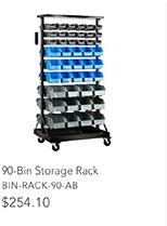 90-Bin Storage Rack