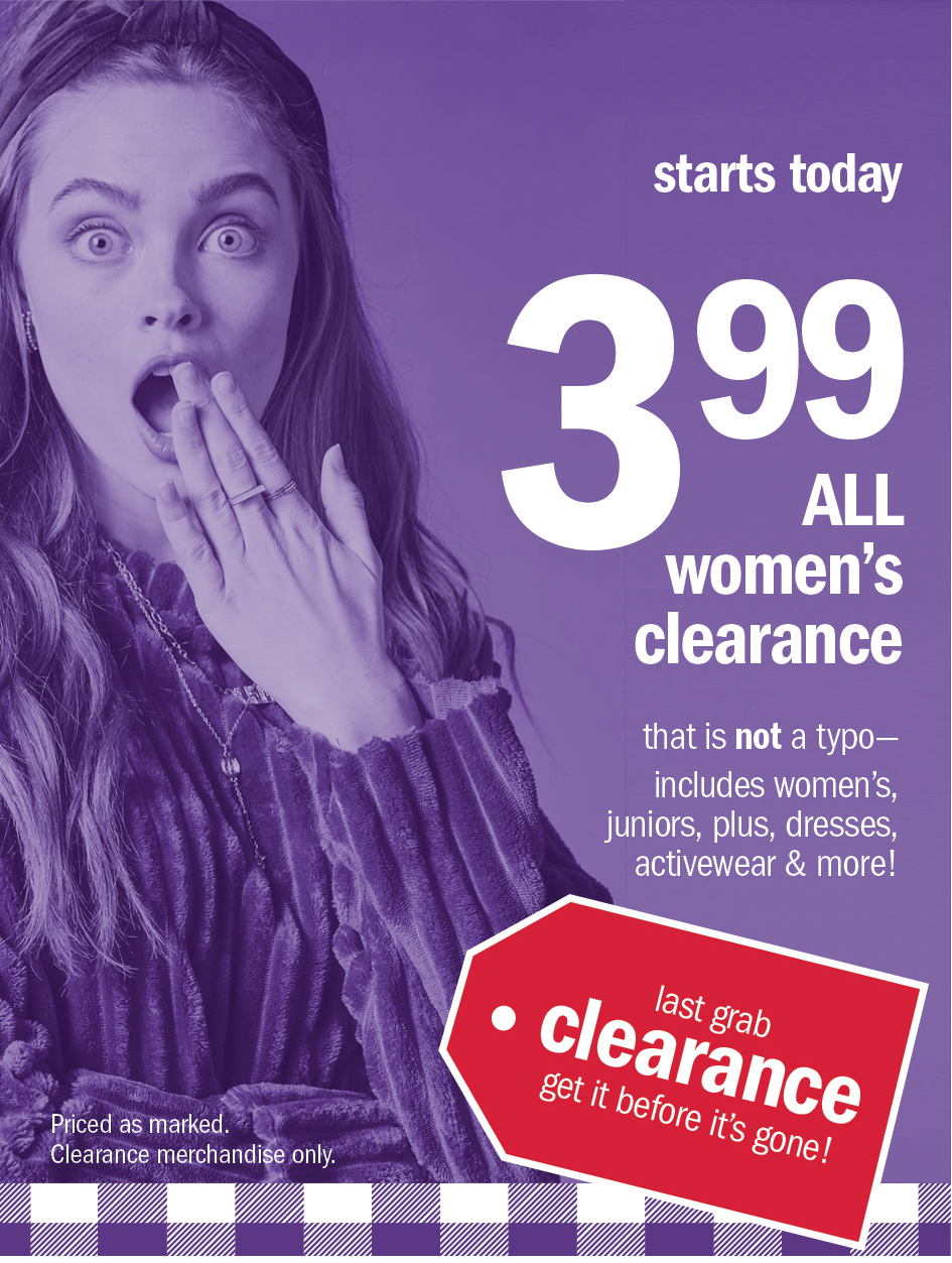 399 all women's clearance
