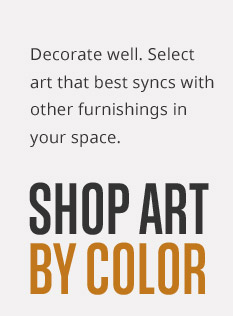 Shop Wall Art by Color!