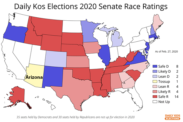2020 Senate Race Ratings Map