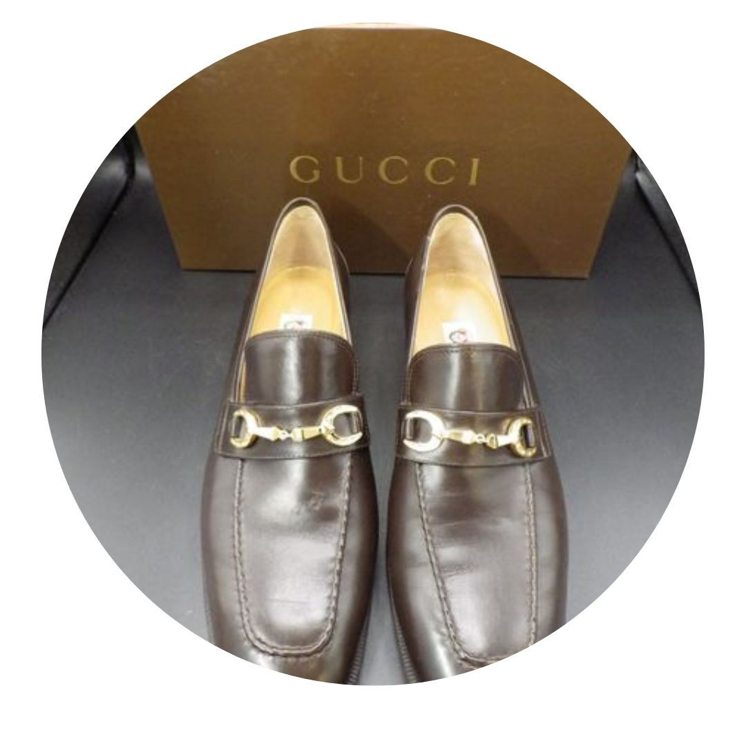 Gucci Brown Leather Dress Shoes