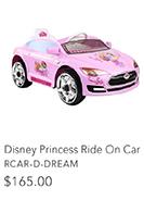 Disney Princess Ride On Car