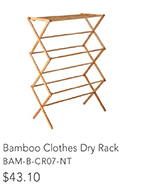 Bamboo Clothes Dry Rack