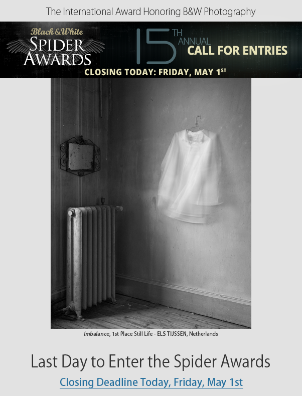 Last Day to Enter Spider Awards - Final Deadline Today Friday, May 1st
