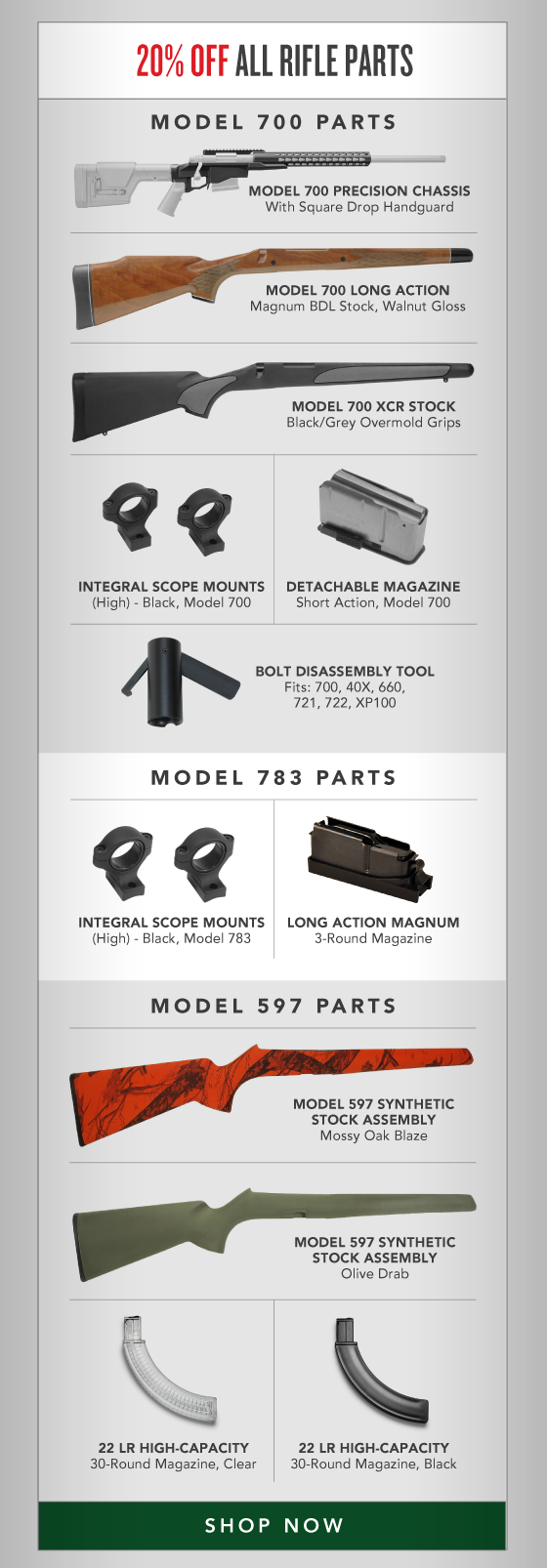 20% OFF All Rifle Parts