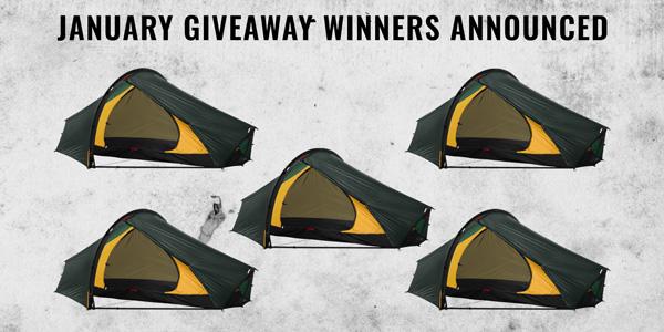 January Hilleberg Tent Winners