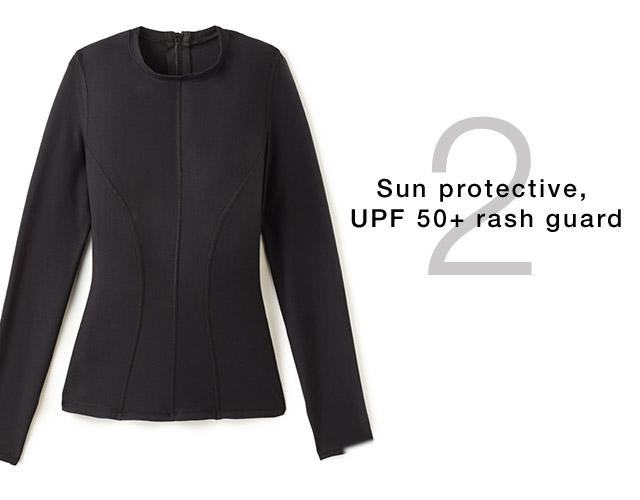 Sun protective rash guard