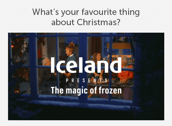 What's your favourite thing about Christmas? Iceland presents the magic of frozen