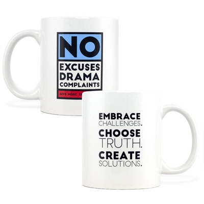 No Excuses Red Mug