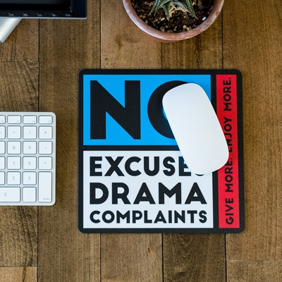 No Excuses Mouse Pad