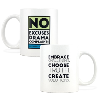 No Excuses Green Mug