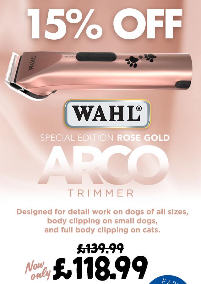 15% OFF Wahl Rose Gold Arco Trimmer