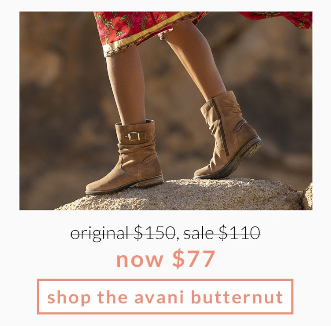 Original $150, Sale $110, now $77! Shop the Avani Butternut