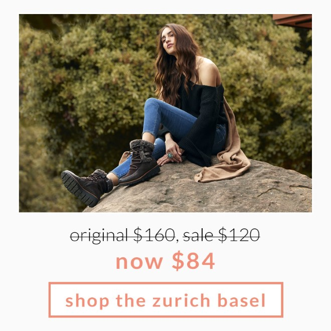 Original $160, Sale $120, now $84! Shop the Zurich Basel