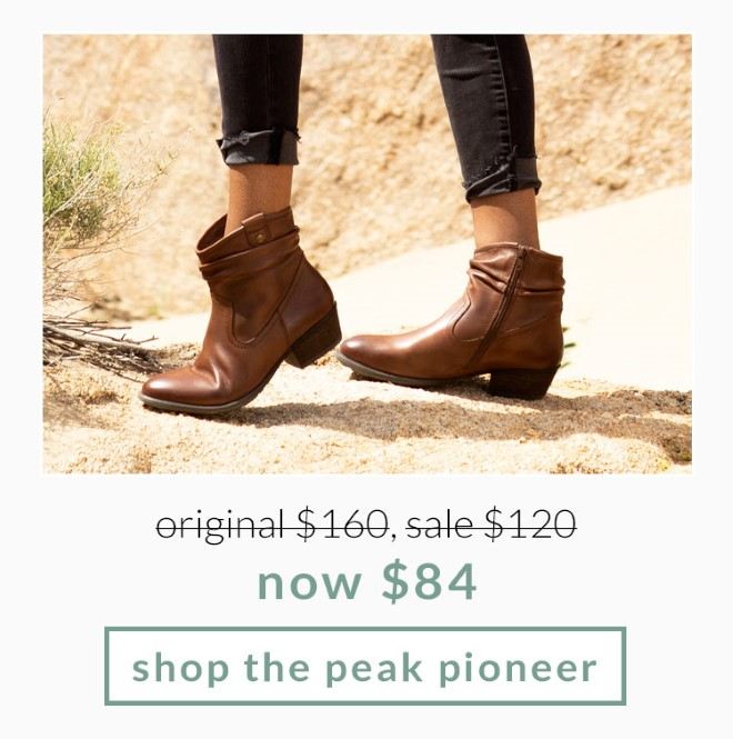 Original $160, Sale $120, now $84! Shop the Peak Pioneer
