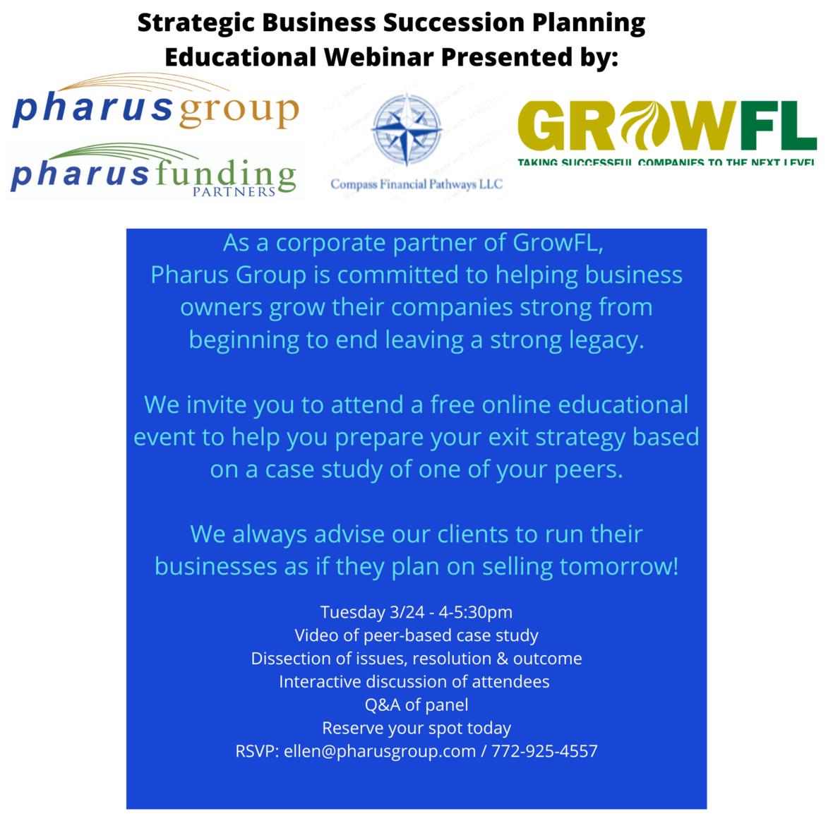 March 24 Webinar - Succession planning
