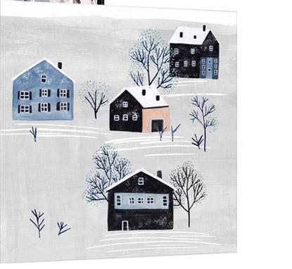Snowy Village I by Melissa Wang