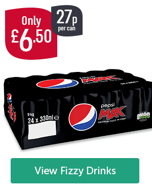 Only �50 27p per can Pepsi Max 24 Pack View Fizzy Drinks