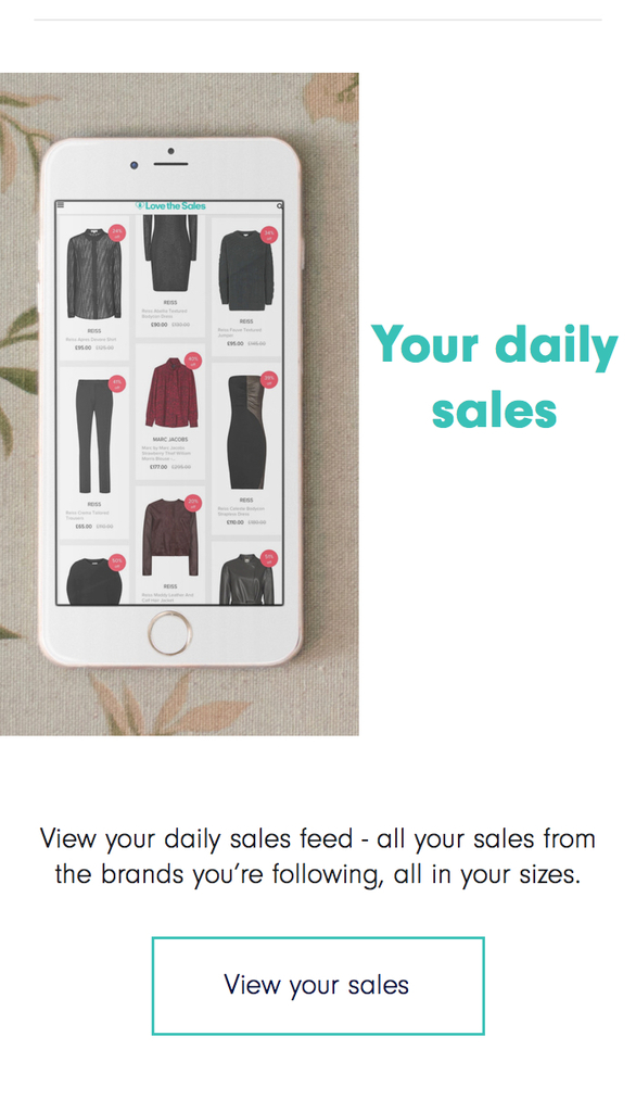 View your daily sales