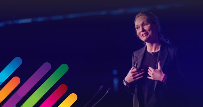 Karina Hollekim speaks at last year's dotdigital Summit