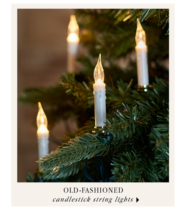 Old-Fashioned Candlestick String Lights