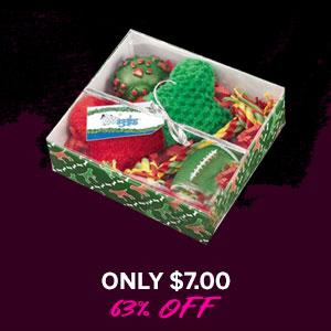 Grriggles Holiday Hound Gift Set - Green