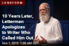 10 Years Later, Letterman Apologizes to Writer Who Called Him Out