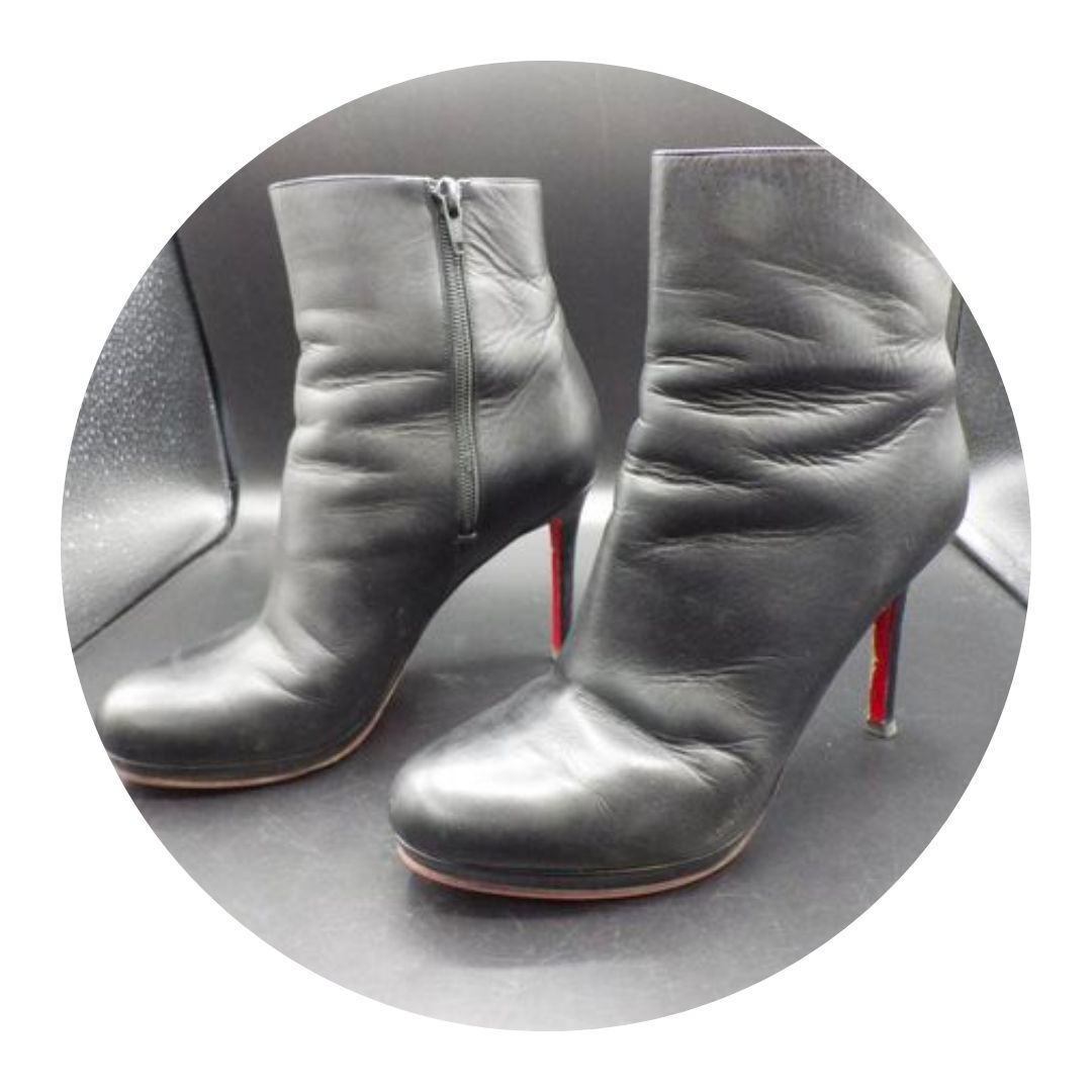 Christian Louboutin High Heel Booties Leather