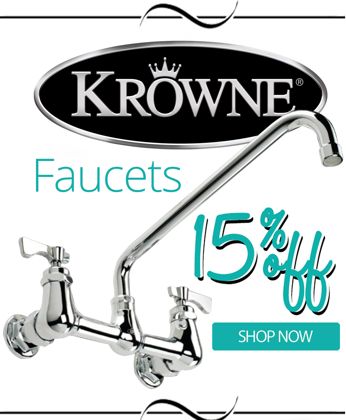 Krowne Faucets are now 15% Off! Shop before the sale is over!