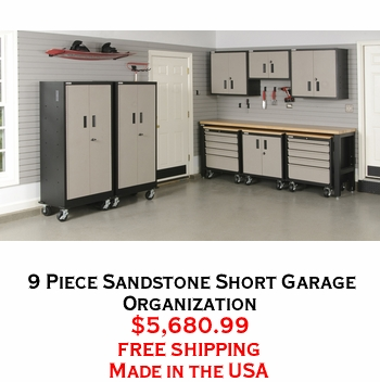 9 Piece Sandstone Short Garage Organization