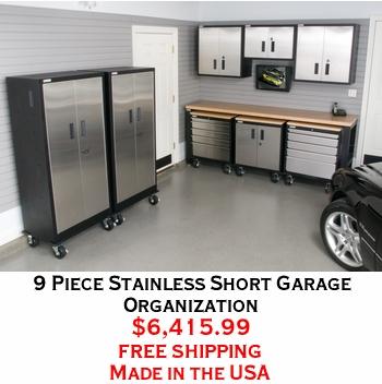 9 Piece Stainless Short Garage Organization