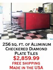 256 sq. ft. of Aluminum Checkered Diamond Plate Tiles