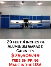 29 feet 4 inches of Aluminum Garage Cabinets