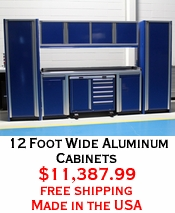 12 Foot Wide Aluminum Cabinets
