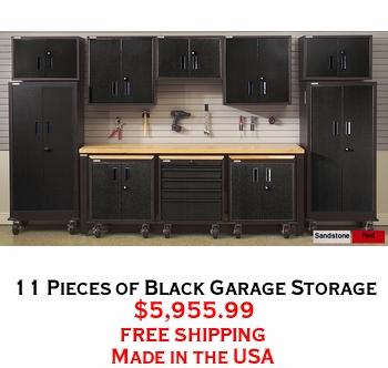 11 Pieces of Black Garage Storage