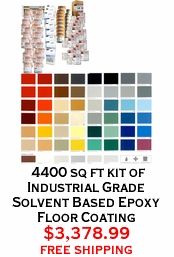 4400 sq ft kit of Industrial Grade Solvent Based Epoxy Floor Coating