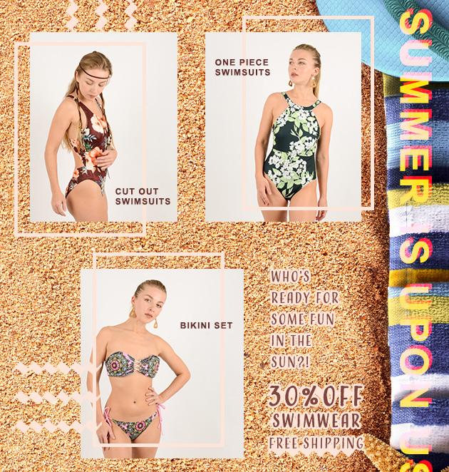 30% off swimwear with free shipping