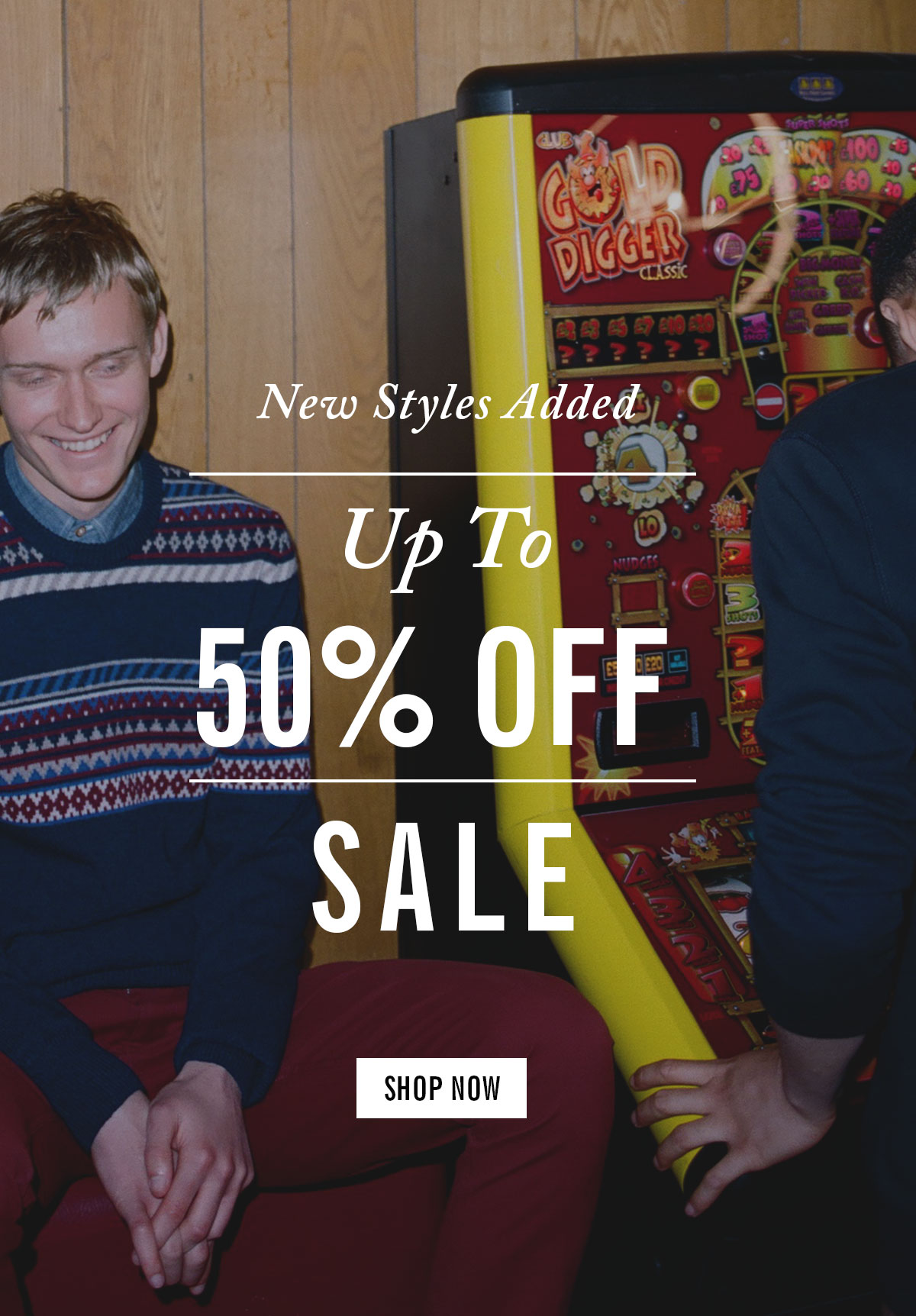 New styles added | Up to 50% off sale | Shop now