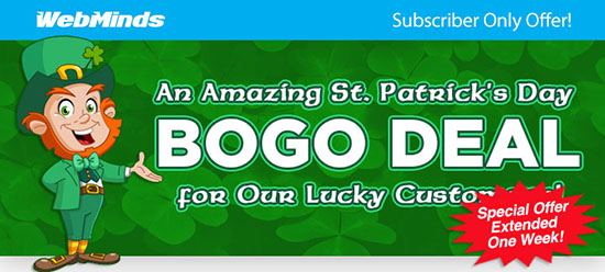 Get Lucky with Our St. Patrick''s Day Combo Deal from WebMinds!