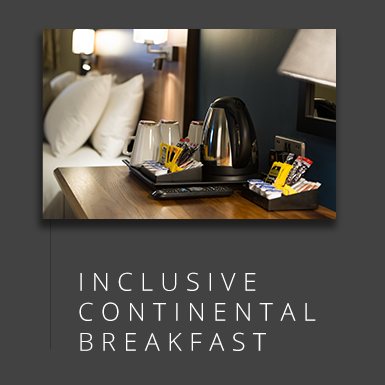 Leave the comfort of our Hypnos beds for your free continental breakfast.