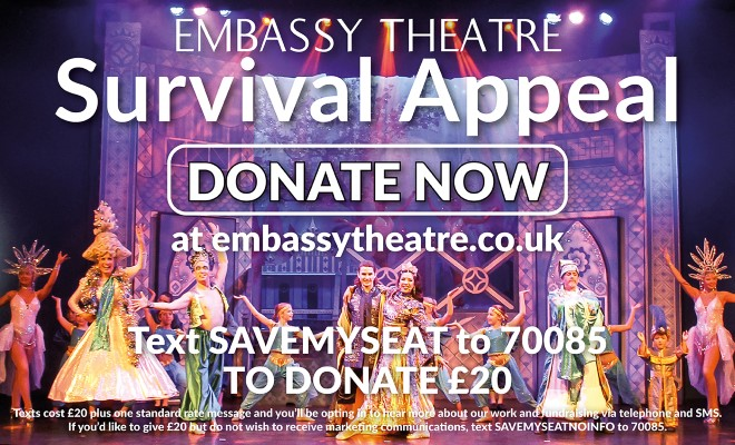 Text SAVEMYSEAT to 70085 to donate ?20