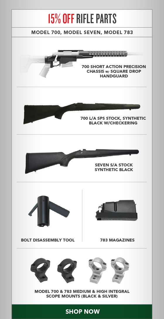 15% OFF Rifle Parts