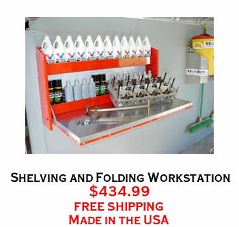 Shelving and Folding Workstation