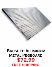 Brushed Aluminum Metal Pegboard