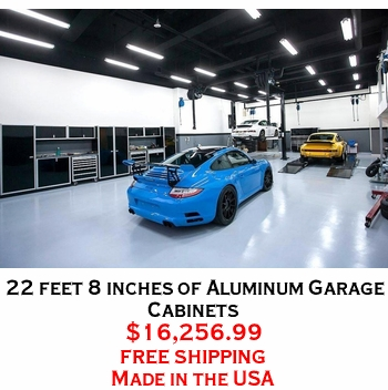 22 feet 8 inches of Aluminum Garage Cabinets