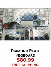 Diamond Plate Pegboard