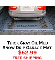 Thick Gray Oil Mud Snow Drip Garage Mat